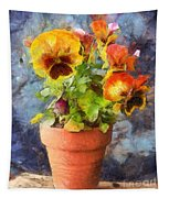 Potted Pansy Pencil Tapestry