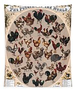Poultry Of The World Poster Tapestry