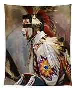 Pow Wow First Nation Dancer Tapestry
