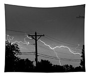 Power Lines Bw Fine Art Photo Print Tapestry