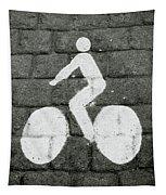 Prague Bike Lane-  By Linda Woods Tapestry