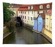 Prague Canal Mill Tapestry