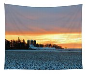 Prairie Winter Sunrise Tapestry