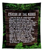 Prayer Of The Woods Tapestry