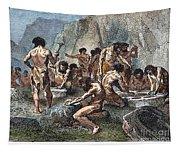 Prehistoric Man: Tools Tapestry
