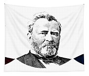 President Grant Red White And Blue Tapestry