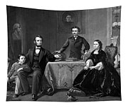 President Lincoln And His Family  Tapestry