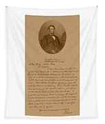 President Lincoln's Letter To Mrs. Bixby Tapestry