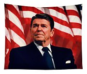 President Ronald Reagan Speaking - 1982 Tapestry
