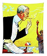 President Woodrow Wilson And The 15th Proposition For The League Of Nations Tapestry
