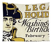 Presidents Day Vintage Poster Tapestry