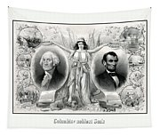 Presidents Washington And Lincoln Tapestry