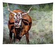 Pretty Female Cow With Horns Tapestry