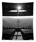 Pretty Place Aka Fred W. Symmes Chapel Black And White Tapestry