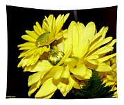 Pretty Yellow Flowers Tapestry