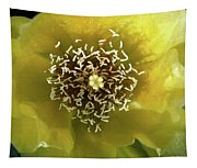 Prickly Pear Cactus Flower Tapestry