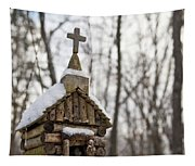 Primitive Church In The Mountains Tapestry