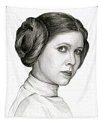 Princess Leia Watercolor Portrait Tapestry