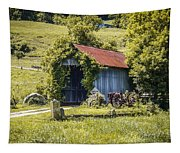 Private Covered Bridge Tapestry