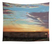 Private Sunrise.  Keep Out Tapestry