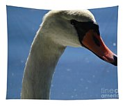 Profile Of A Swan Tapestry