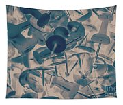 Projected Abstract Blue Thumbtacks Background Tapestry