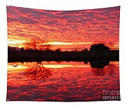 Dramatic Orange Sunset Tapestry