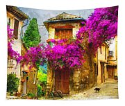 Provence Street Tapestry