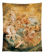 Psyche Taken Up Into Olympus Tapestry