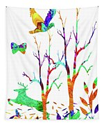 Psychedelic Forest Tapestry