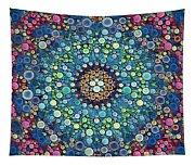 Psychedelic Mandala Tapestry