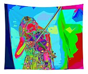 Psychedelic Violinist Tapestry