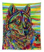 Psychedelic Wolf Tapestry