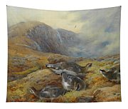 Ptarmigan Danger Aloft By Thorburn Tapestry