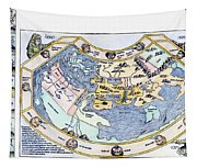 Ptolemaic World Map, 1493 Tapestry