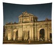 Puerta De Alcala Night Tapestry