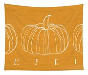 Pumpkins- Art By Linda Woods Tapestry
