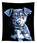 Puppy Dog Graphic Novel Drawing Tapestry