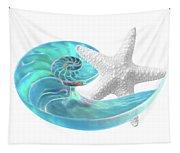 Pure Joy - Starfish With Nautilus Shell Tapestry