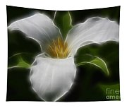 Pure White Trillium Tapestry
