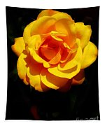 Pure Yellow Petals Tapestry