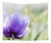 Purple Anemore Flower Tapestry
