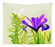 Purple And Blue Iris Tapestry