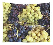 Purple And Green Grapes Tapestry
