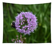 Purple And The Bee Tapestry