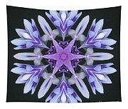 Purple And White Frosted Queen Mandala Tapestry