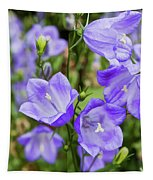 Purple Bell Flowers Tapestry