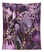 Purple Cactus Canvas Tapestry