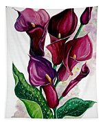 Purple Callas Tapestry