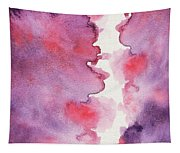 Purple Clouds Abstract Watercolor Tapestry